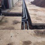 Under ground Mains Bio Mass install East Yorkshire