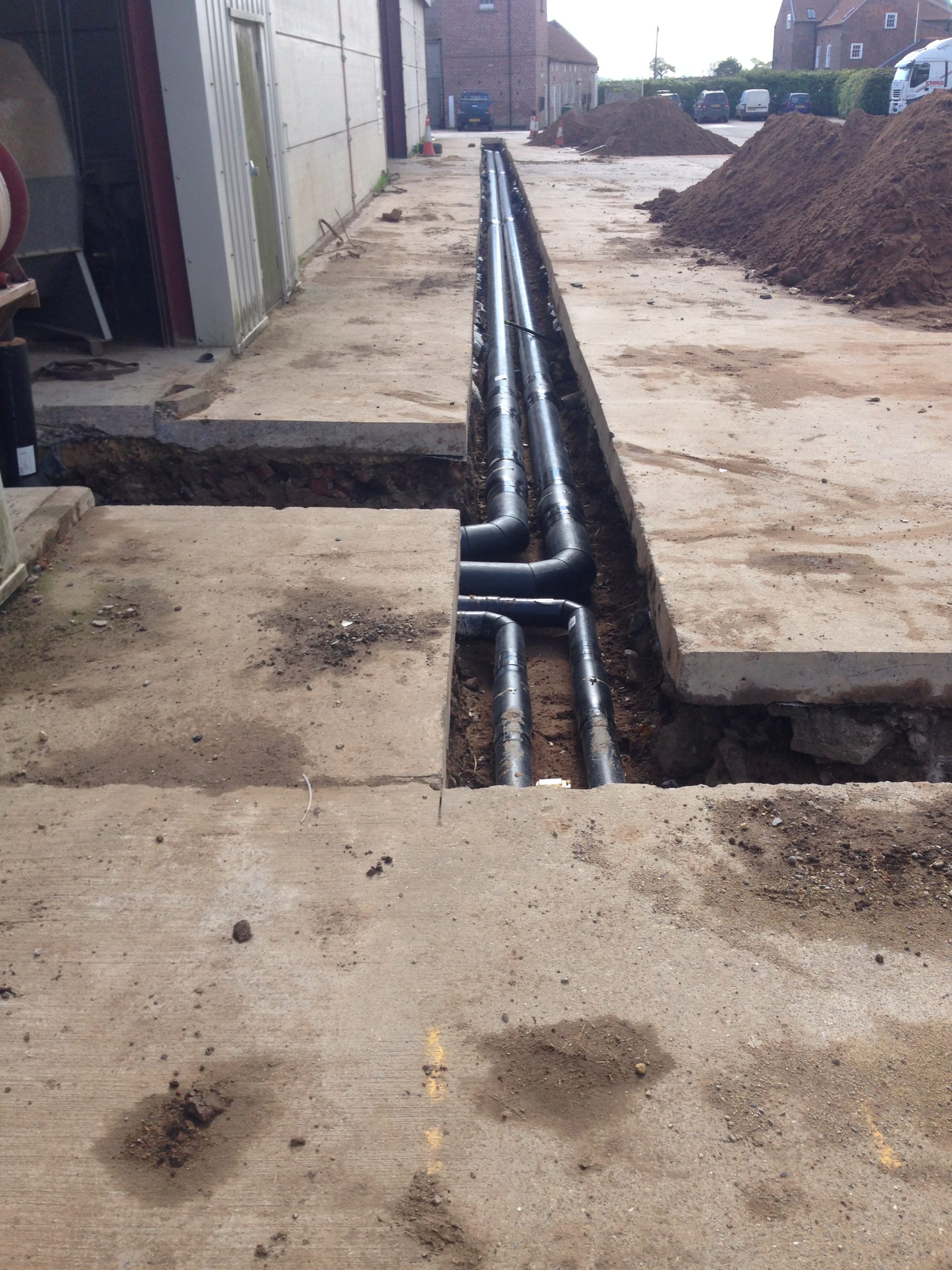 Under ground Mains Bio Mass install East Yorkshire